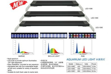 Светильник DOPHIN LED-1089 RGB (45 - 51 см.), 17 W, 18 white+9 red+12 blue